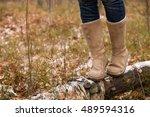 Closeup Of Woman's Legs Walkin...