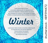 winter abstract banners with... | Shutterstock .eps vector #489594472