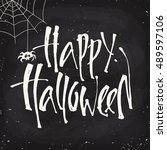blackboard style vector... | Shutterstock .eps vector #489597106