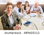 single out of a mature... | Shutterstock . vector #489603112