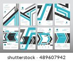 fold set technology annual... | Shutterstock .eps vector #489607942