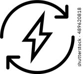 energy outline icon | Shutterstock .eps vector #489620818