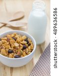 corn flakes nutrition cereal... | Shutterstock . vector #489636586