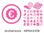 euro quality seal icon with... | Shutterstock .eps vector #489641458