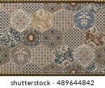 tile  mosaic abstract | Shutterstock . vector #489644842