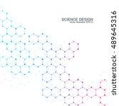 hexagonal molecule. molecular... | Shutterstock .eps vector #489645316