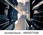 windows of business building in ... | Shutterstock . vector #489657568
