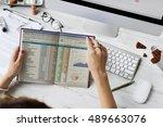 data information report... | Shutterstock . vector #489663076