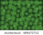 background with clover with... | Shutterstock .eps vector #489672712
