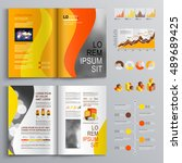 orange business brochure...   Shutterstock .eps vector #489689425