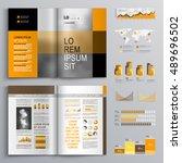classic business brochure... | Shutterstock .eps vector #489696502