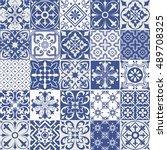 big vector set of tiles... | Shutterstock .eps vector #489708325