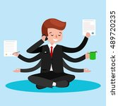business relaxation.business... | Shutterstock .eps vector #489720235