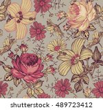 seamless pattern. beautiful... | Shutterstock .eps vector #489723412