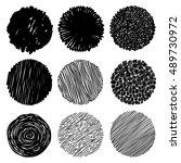 hand texture. set. the art... | Shutterstock .eps vector #489730972