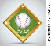 ball icon. baseball sport... | Shutterstock .eps vector #489732478