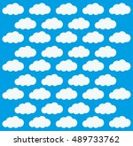 clouds background. weather sky... | Shutterstock .eps vector #489733762
