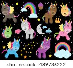 cute vector collection of... | Shutterstock .eps vector #489736222