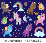 cute vector collection of... | Shutterstock .eps vector #489736252
