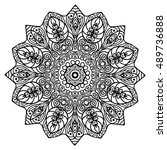 beautiful mandala | Shutterstock .eps vector #489736888