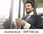 self confident businessman | Shutterstock . vector #489738136