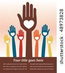colorful loving people design... | Shutterstock .eps vector #48973828