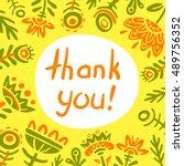 card of thanks vector | Shutterstock .eps vector #489756352