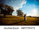 look from afar at gorgeous... | Shutterstock . vector #489759472