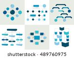flowcharts. set of 6 flow... | Shutterstock .eps vector #489760975