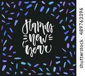 abstract vector christmas card...   Shutterstock .eps vector #489763396