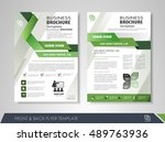 front and back page brochure... | Shutterstock .eps vector #489763936