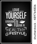 health quote. typographical... | Shutterstock .eps vector #489764806