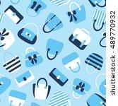 woman bags seamless pattern....   Shutterstock .eps vector #489770932