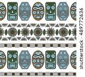 pattern ethnic mask 2. vector | Shutterstock .eps vector #489772636