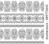 pattern ethnic mask. vector | Shutterstock .eps vector #489772642
