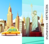 new york two vertical banners... | Shutterstock .eps vector #489783286