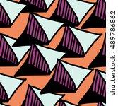 seamless pattern. hands draw... | Shutterstock .eps vector #489786862
