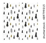 winter graphic seamless pattern ...