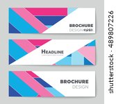 abstract vector layout... | Shutterstock .eps vector #489807226
