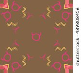 pattern of zodiac signs. hand... | Shutterstock .eps vector #489808456