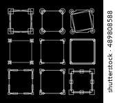 vintage square frame and border ... | Shutterstock .eps vector #489808588