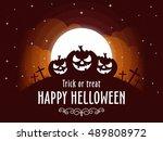 happy halloween. vector... | Shutterstock .eps vector #489808972