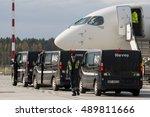 riga   september 27  airbaltic... | Shutterstock . vector #489811666