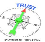 compass with the needle... | Shutterstock . vector #489814432