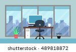 cityscape and office room | Shutterstock .eps vector #489818872