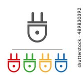 electrical plug icon.flat image ...
