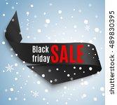 satin ribbon with black friday...   Shutterstock .eps vector #489830395