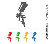 spray gun icon.flat image...