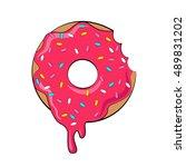 vector donut picture for t...   Shutterstock .eps vector #489831202