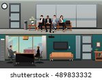 a vector illustration of job... | Shutterstock .eps vector #489833332